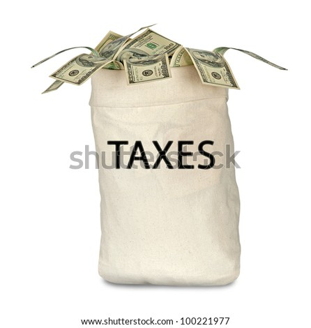 Bag with tax - stock photo