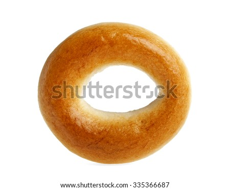 Bagel on a white background - stock photo
