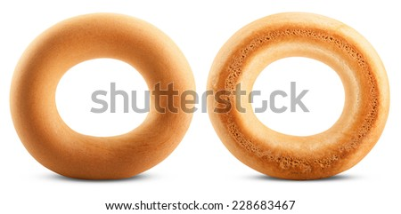 Bagels isolated on white background. Clipping Path - stock photo