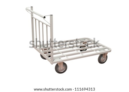 baggage trolley - stock photo