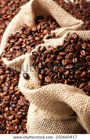 bags of coffee - stock photo