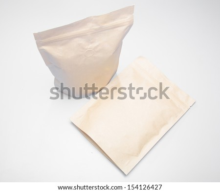 bags packaging background  - stock photo
