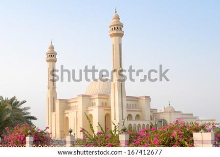 Bahrain - Al Fateh Grand Mosque  - stock photo