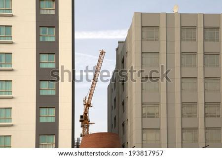 Bahrain building construction - stock photo