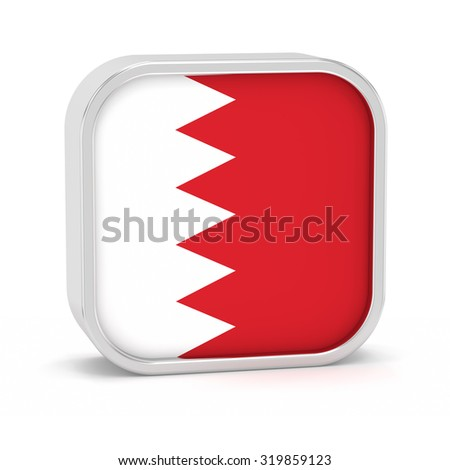 Bahrain flag sign on a white background. Part of a series. - stock photo