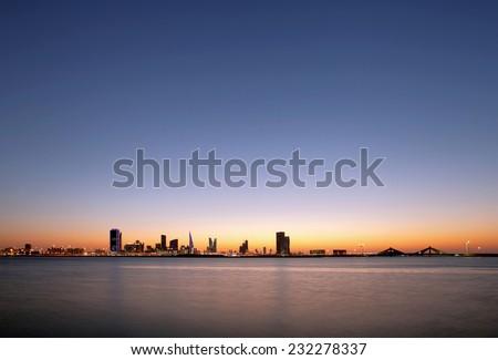 Bahrain skyline  - stock photo