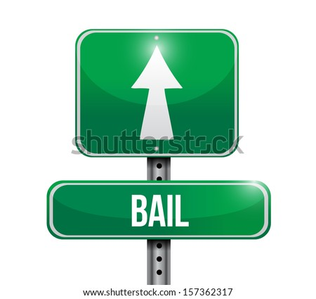 bail road sign illustration design over a white background - stock photo