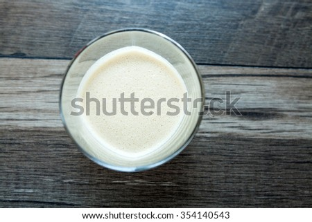 Baileys liqueur in glass - stock photo