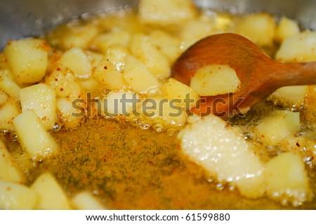 bake potatoes - stock photo