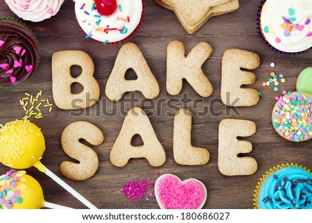 Bake sale cookies - stock photo