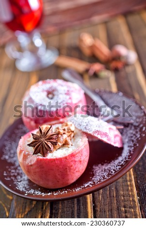 baked apple - stock photo