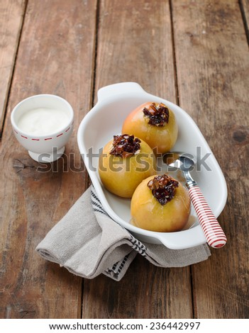 baked apples  - stock photo
