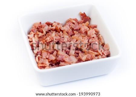 Baked bacon - stock photo