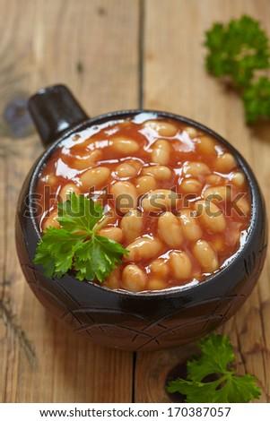Baked beans - stock photo