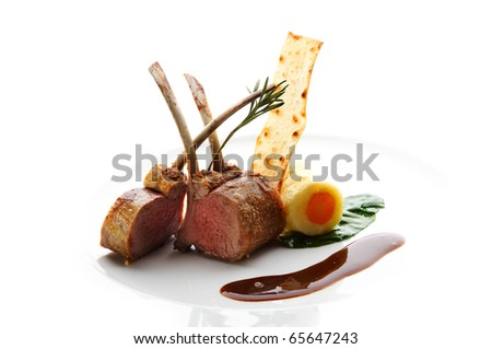 Baked lamb - stock photo