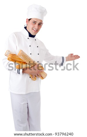 Baker. Isolated over white. - stock photo