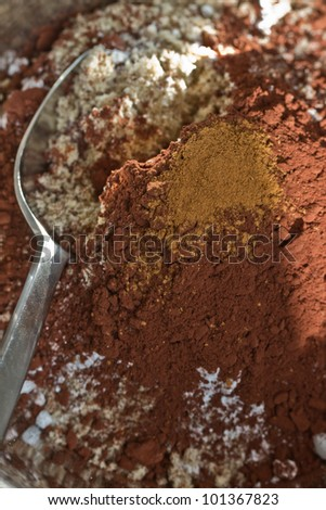 Baking ingredients for a cake - stock photo