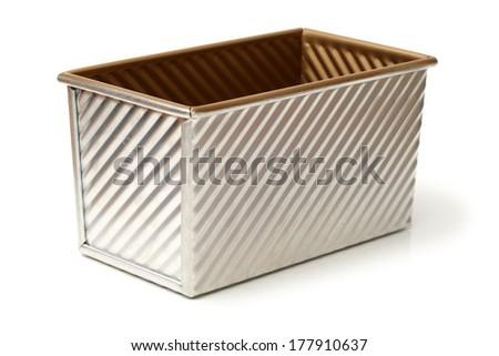 Baking molds on white background  - stock photo