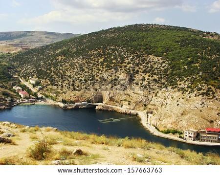 Balaklava Bay, Crimea, Ukraine - stock photo