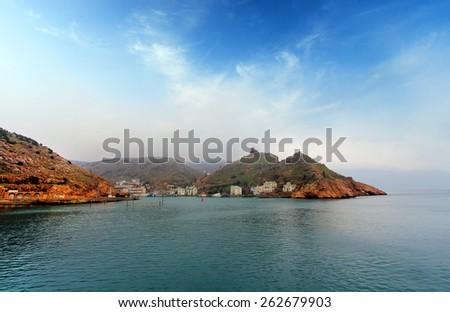 Balaklava bay view from the sea - stock photo