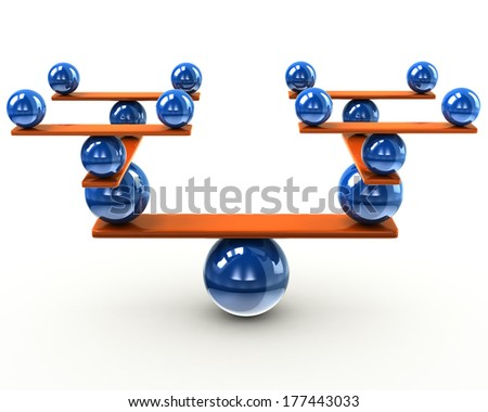 Balance and harmony concept - stock photo