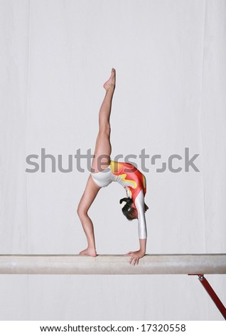 Balance beam - stock photo