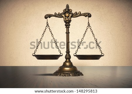 Balance concept of law and justice - stock photo