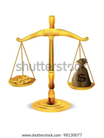 Balance isolated - stock photo