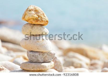 balance rocks - stock photo