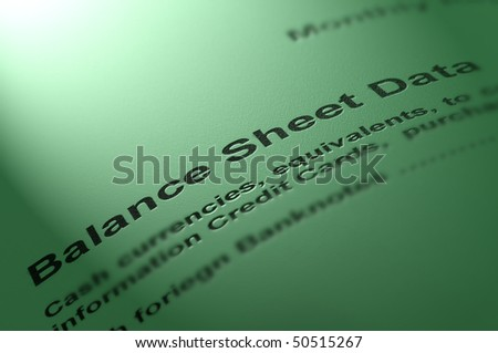 Balance statement. - stock photo