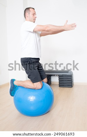 Balance training  - stock photo
