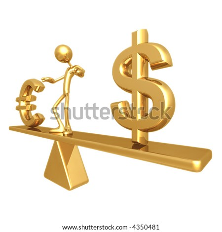 Balance With Dollar And Euro - stock photo