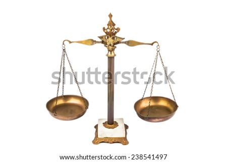 Balanced scale, a symbol of justice - stock photo