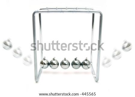 Balancing balls - stock photo