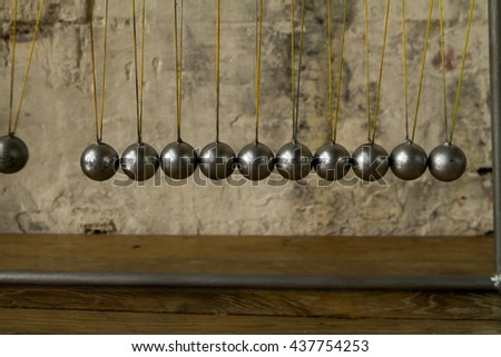 Balancing Balls Newtons Cradle - stock photo