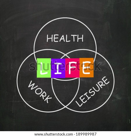 Balancing Life with Health Leisure and Work - stock photo