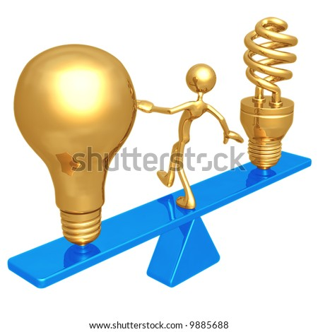 Balancing Old And New Ideas - stock photo
