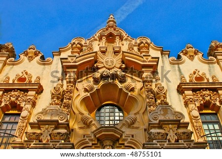 Balboa park detail - stock photo