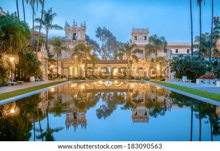 Balboa Park's Casa de Balboa Building in San Diego, California - stock photo