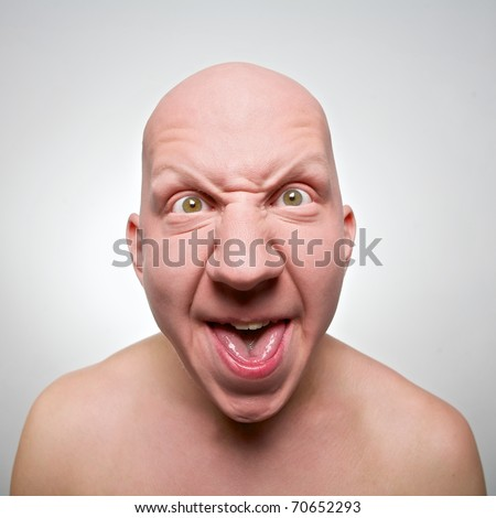 Bald actor face - stock photo