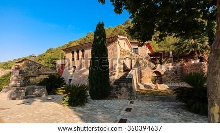 Balearic islands Mediterranean Finca, architecture of Majorca. - stock photo