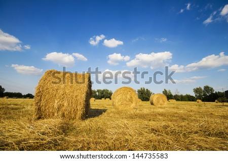 Bales of hay III - stock photo