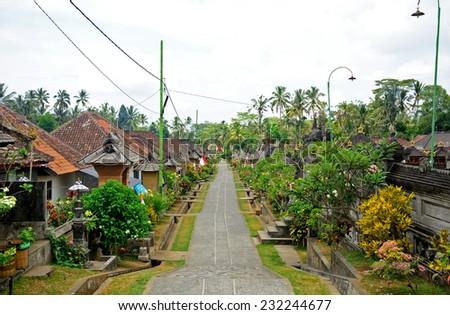 Bali Aga village, Penglipuran, Bali, Indonesia - stock photo