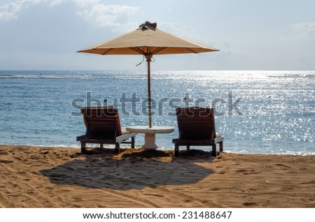 Bali beaches - stock photo