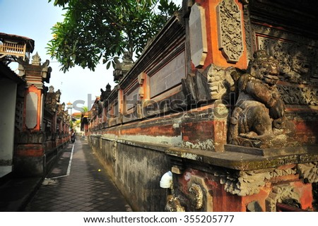 Bali Carving Wall  - stock photo