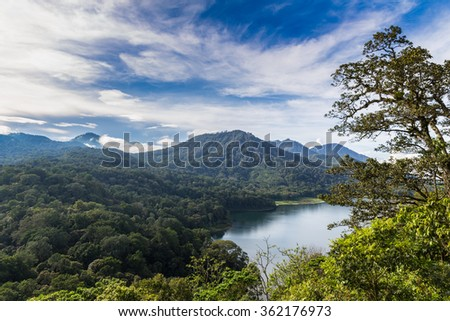 Bali lakes - stock photo