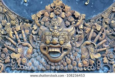 Bali stone sculpture. - stock photo