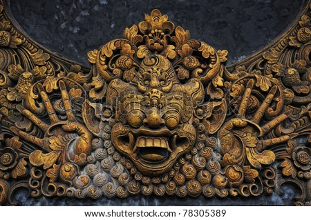 bali stone sculpture - stock photo