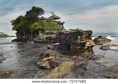 Bali Temple. Tanah Lot. Indonesia - stock photo