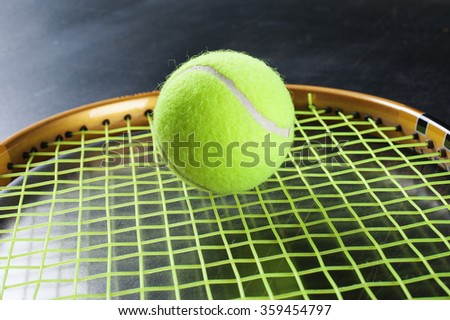 Ball and racket. - stock photo